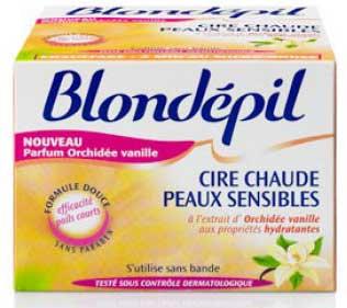 blondépil cire chaude peaux sensibles