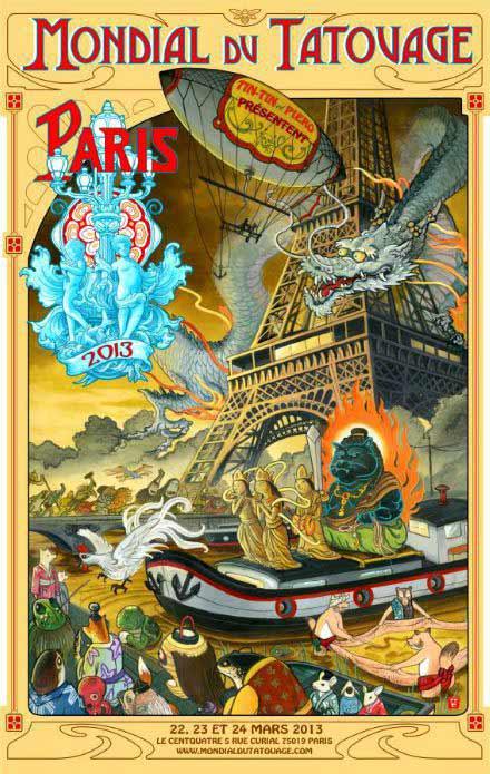 Affiche mondial du tatouage 2013