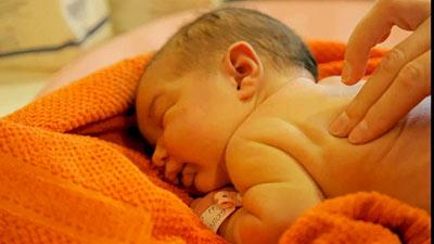 thalasso massage bébé