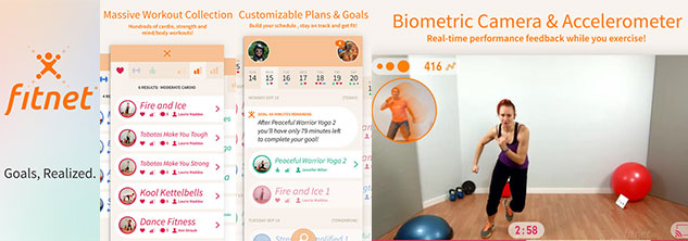 application iphone Fitnet Personnal Fitness Workouts