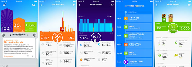 Application iphone UP pour le bracelet Jawbone