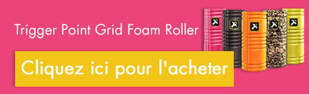 trigger point grid foam roller rouleau mousse