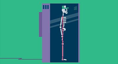 Ligne droite tracée en plusieurs points du corps